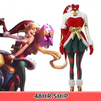 LOL Christmas Jinx Cosplay Costumes Full Sets