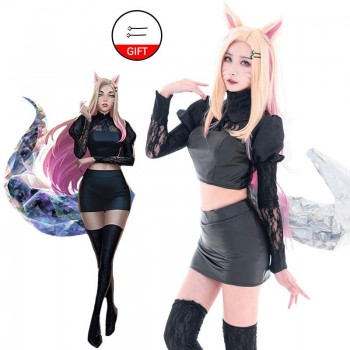 LOL KDA BADDEST Nine Tailed Fox Ahri Cosplay Costume