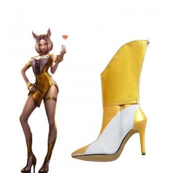 LOL KDA Nine-Tailed Fox Ahri Prestige Cosplay Shoes
