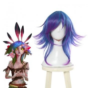 LOL Neeko Mixed Color Cosplay Wigs