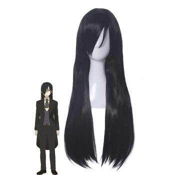 Miss Kobayashi's Dragon Maid Fafnir Long Black Cosplay Wigs
