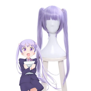 New Game!! Suzukaze Aoba Long Straight Purple Cosplay Wigs