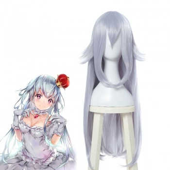 New Super Mario Bros. U Deluxe Boosette Silver Long Cosplay Wigs
