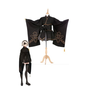 Video Game Nier: Automata Game 2b Kimono Cosplay Costumes