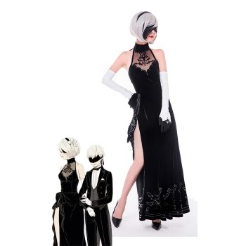 Video Game Nier: Automata Game 2b Evening Dress Cosplay Costumes