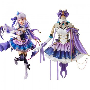 Re:Life in a Different World From Zero Emilia Emiria Anime Cosplay Costumes