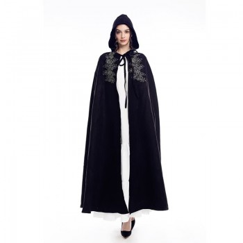 Retro Suede Lace-up Cloak Cosplay Costume