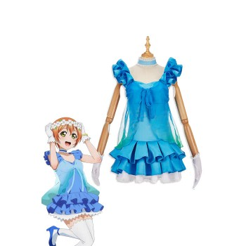 Love Live! Yume No Tobira Rin Hoshizora Blue Anime Coaplay Dress