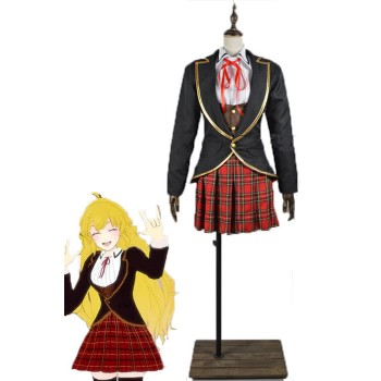 Ruby Rose Weiss Schnee Blake Belladonna Yang Xiao Beacon Academy School Uniform Cosplay Costumes
