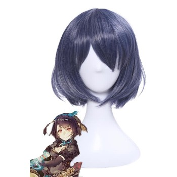SINoALICE Alice Short Deep Purple Straight Game Cosplay Woman Wigs