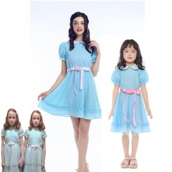 Movie The Shining Twins Cosplay Halloween Party Dress For Women Kids