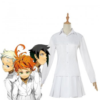 The Promised Neverland  Emma  Weißes Hemd Rock Cosplay Kostüm