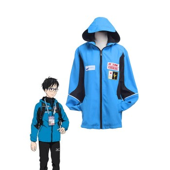 Yuri on Ice Yuri Katsuki Blue Sportswear Jacket Cosplay Costumes