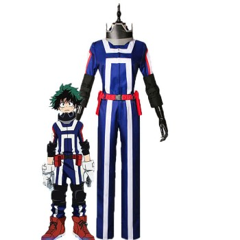 Mein Held Academia Izuku Midoriya Anime Cosplay blaue Uniform Kostüme