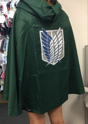 This chic raincoat! Quality good, flat seams! For fans Attack Titan-it is very good.