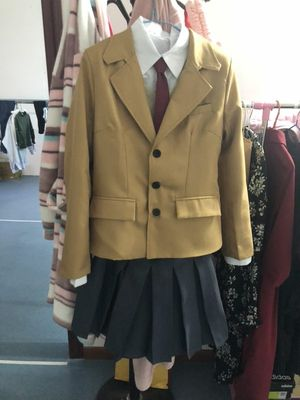 Suit is very high quality, fabric also) Jacket with 'shoulders', which is very convenient.