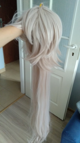 "This wig is pretty good. ""Hair"" is smooth and soft. A length is okey. This wig has not enough hair and the mesh evolves. Good cut! And very fast delivery!"