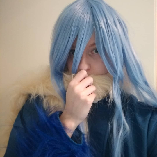 I ordered the Cosplay with the wig and I love it! The coat fits really good, even though I usually have problems with the size there. The colors are just like on the photos. The trousers are a little magnet for fluff, but that's fine with me. The scarf is